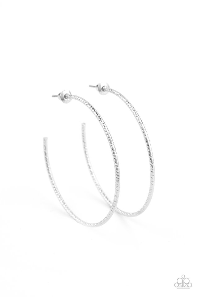 Inclined To Entwine - Silver - Paparazzi Earring Image