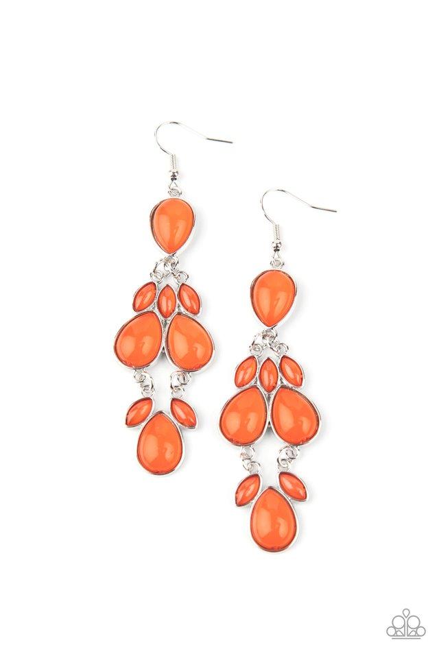 Superstar Social - Orange - Paparazzi Earring Image