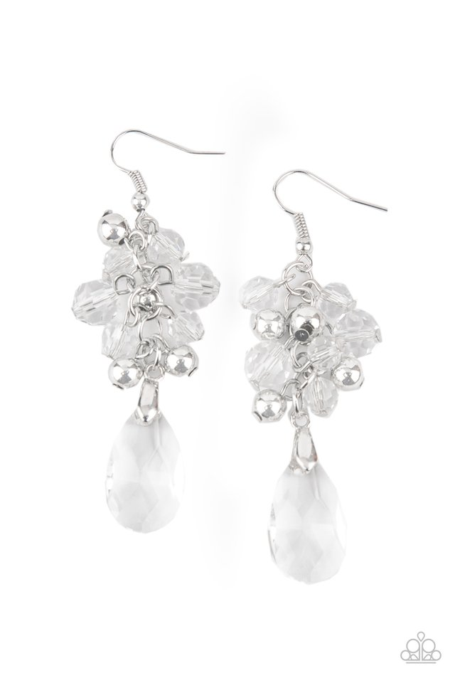 Before and AFTERGLOW - White - Paparazzi Earring Image