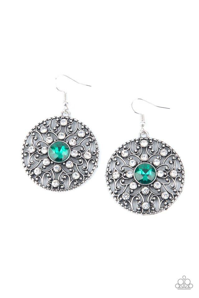 GLOW Your True Colors - Green - Paparazzi Earring Image