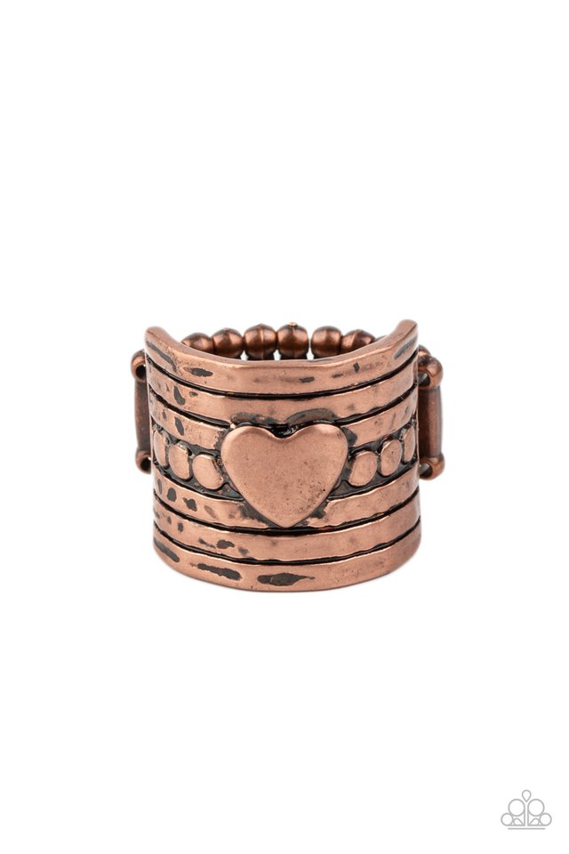 Dont Lose Heart - Copper - Paparazzi Ring Image