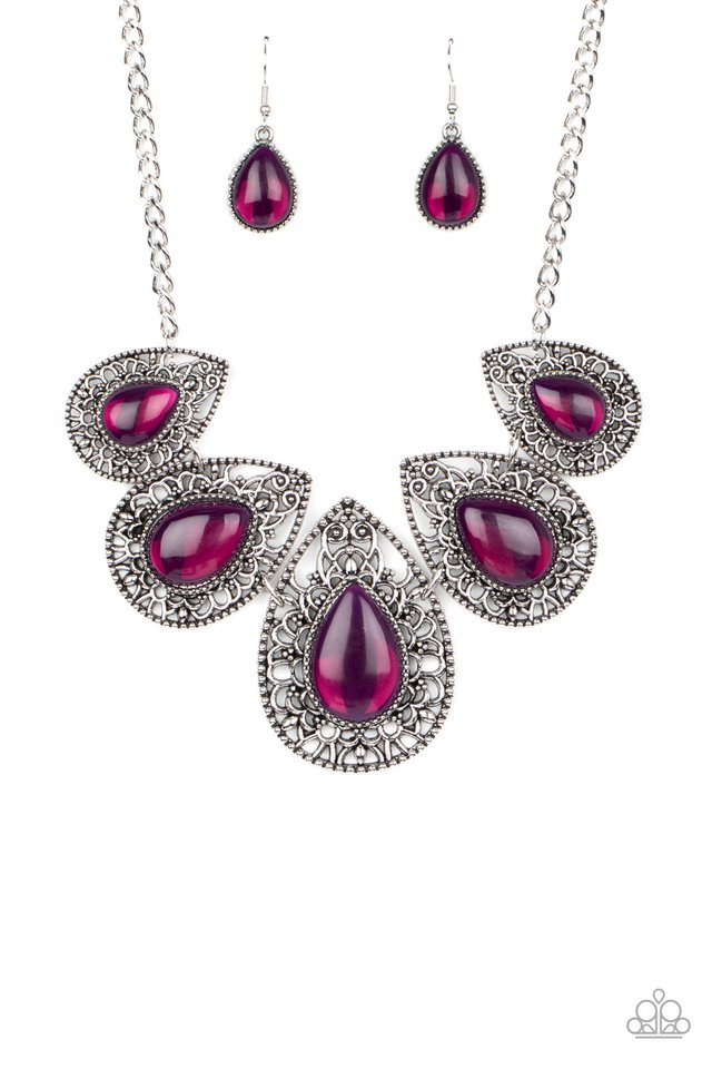 Opal Auras - Purple - Paparazzi Necklace Image