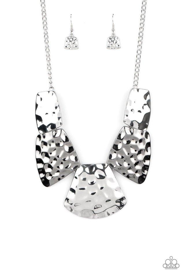 HAUTE Plates - Silver - Paparazzi Necklace Image