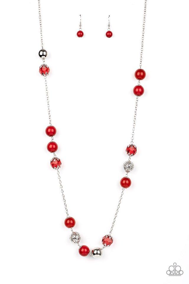 Fruity Fashion - Red - Paparazzi Necklace Image
