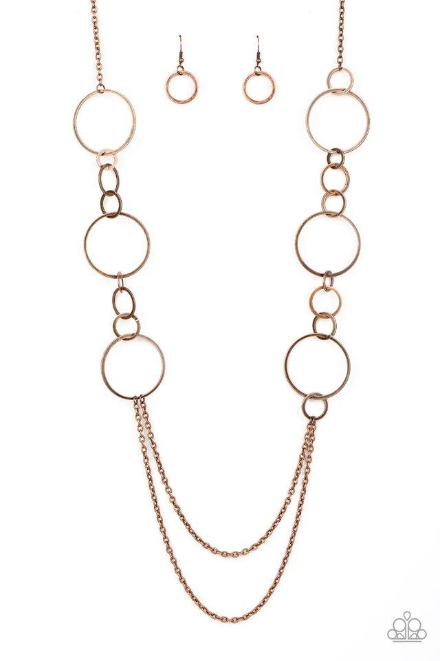Basic Babe - Copper - Paparazzi Necklace Image