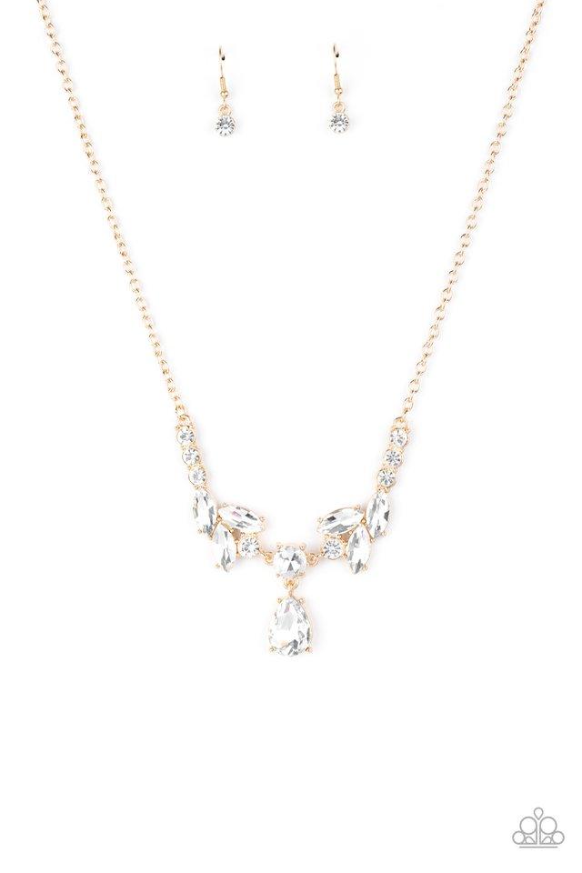 Unrivaled Sparkle - Gold - Paparazzi Necklace Image