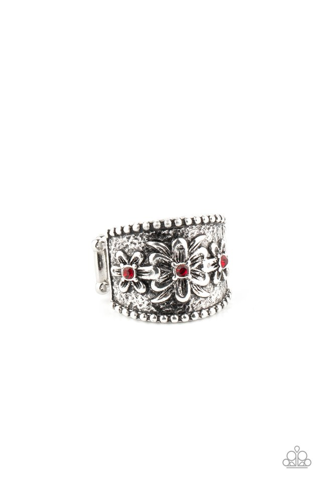 Tropical Nights - Red - Paparazzi Ring Image