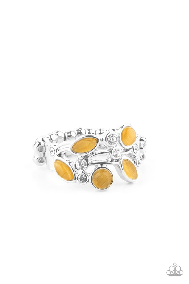 Leafy Luster - Yellow - Paparazzi Ring Image