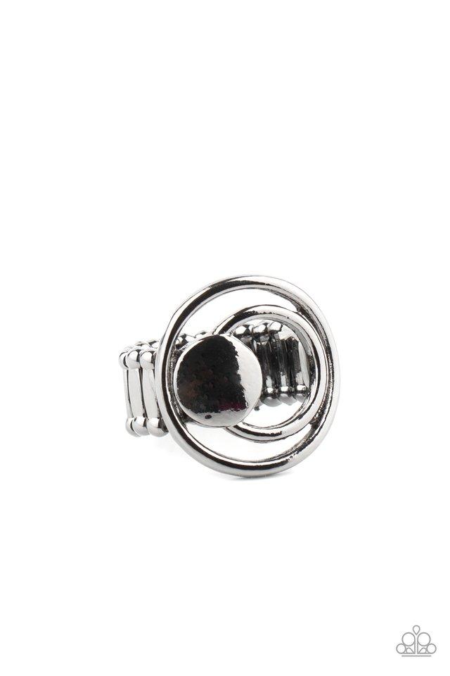 Edgy Eclipse - Black - Paparazzi Ring Image