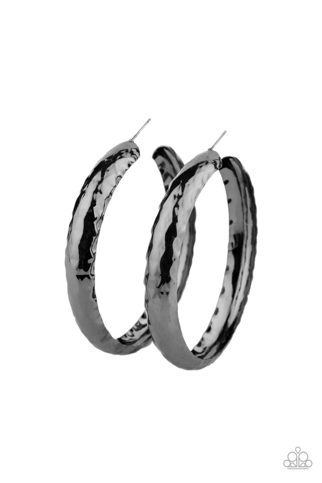 Check Out These Curves - Black - Paparazzi Earring Image