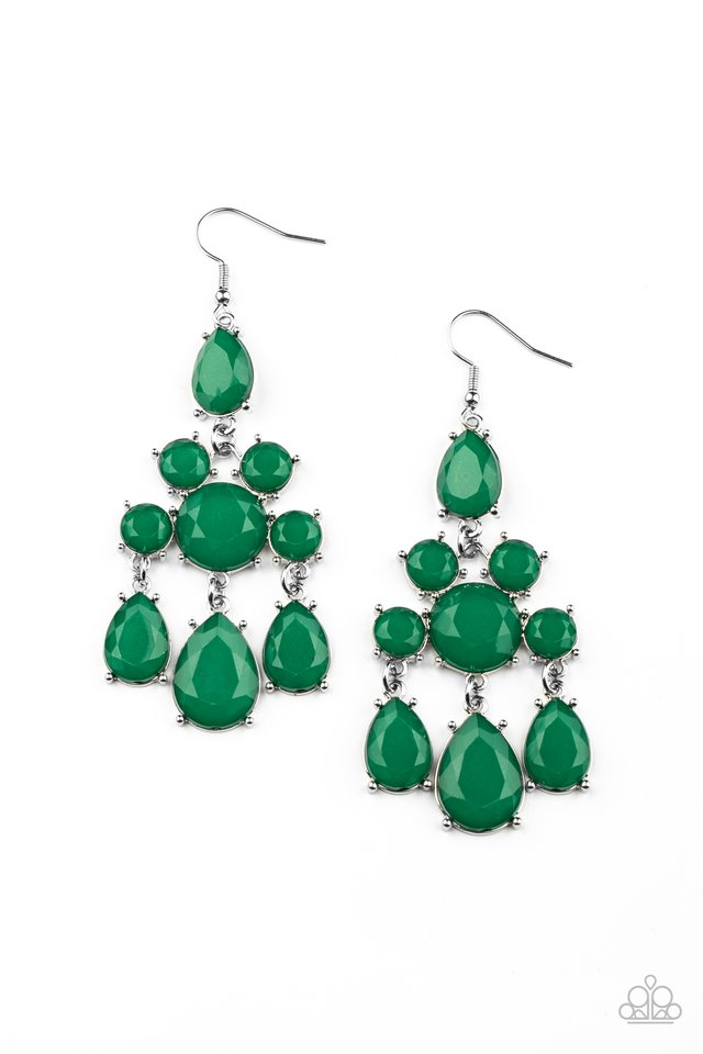 Afterglow Glamour - Green - Paparazzi Earring Image