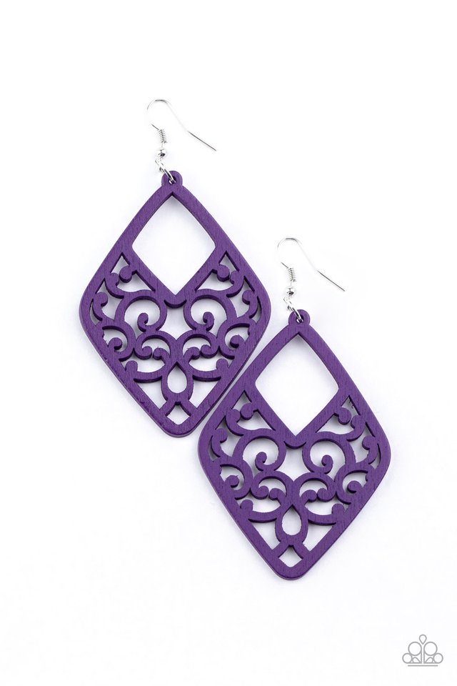 VINE For The Taking - Purple - Paparazzi Earring Image