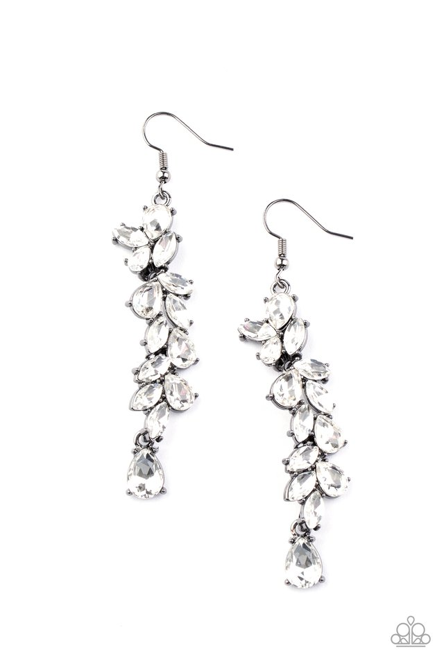 Unlimited Luster - Black - Paparazzi Earring Image