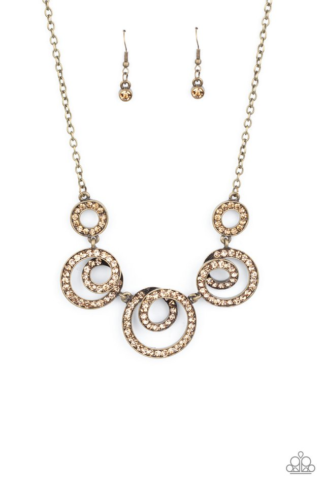 Total Head-Turner - Brass - Paparazzi Necklace Image
