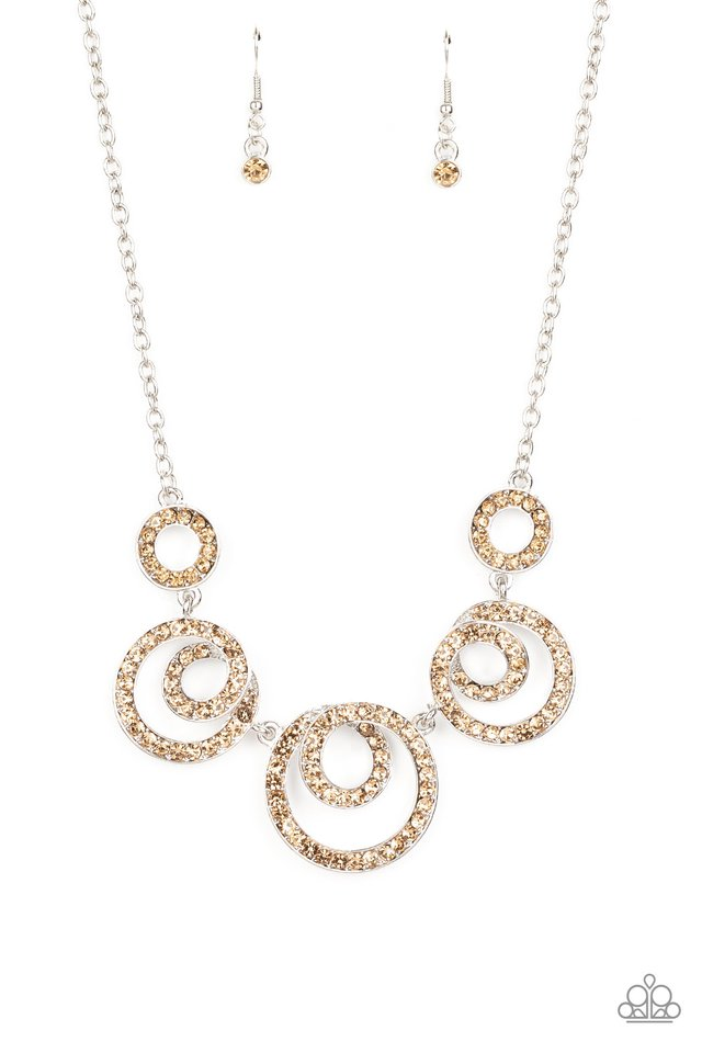 Total Head-Turner - Brown - Paparazzi Necklace Image