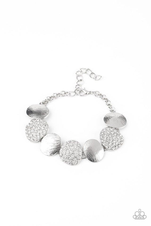 Tough LUXE - White - Paparazzi Bracelet Image