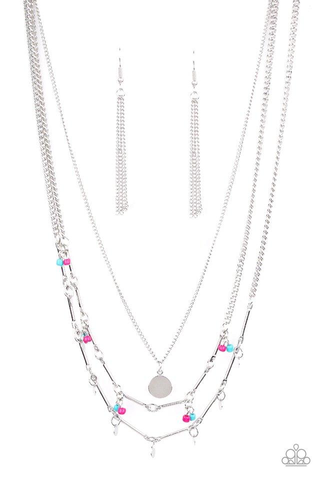 Wandering Wonder - Pink - Paparazzi Necklace Image