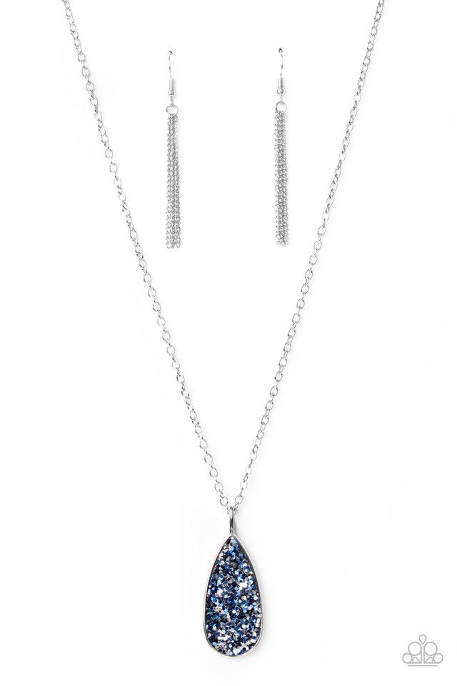Daily Dose of Sparkle - Blue - Paparazzi Necklace Image