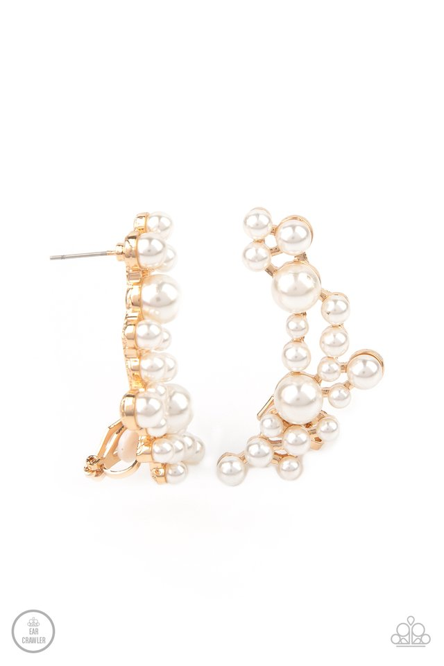 Metro Makeover - Gold - Paparazzi Earring Image