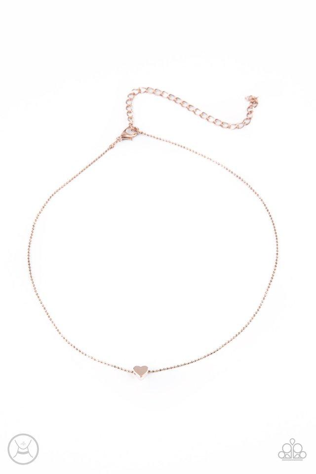 Humble Heart - Rose Gold - Paparazzi Necklace Image
