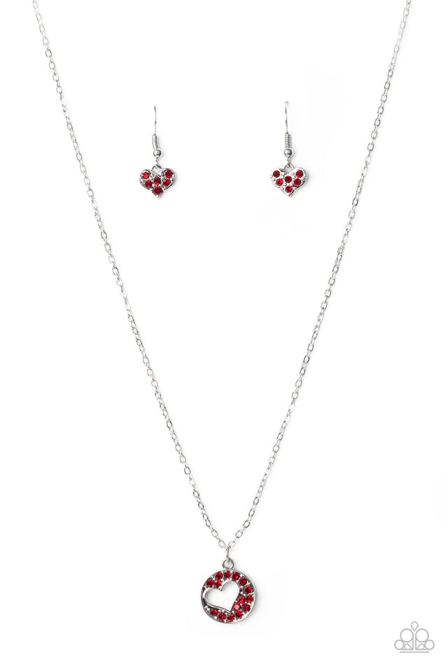 Bare Your Heart - Red - Paparazzi Necklace Image