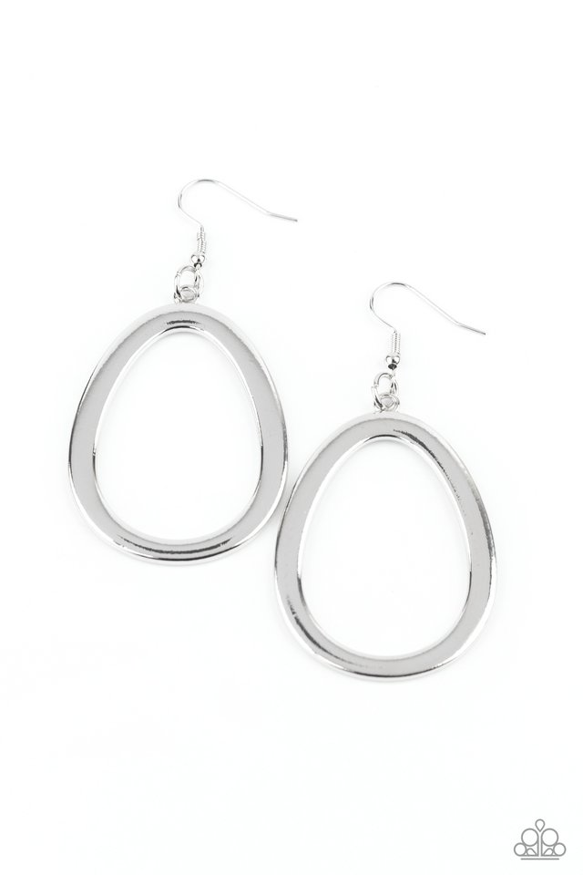 Casual Curves - Silver - Paparazzi Earring Image