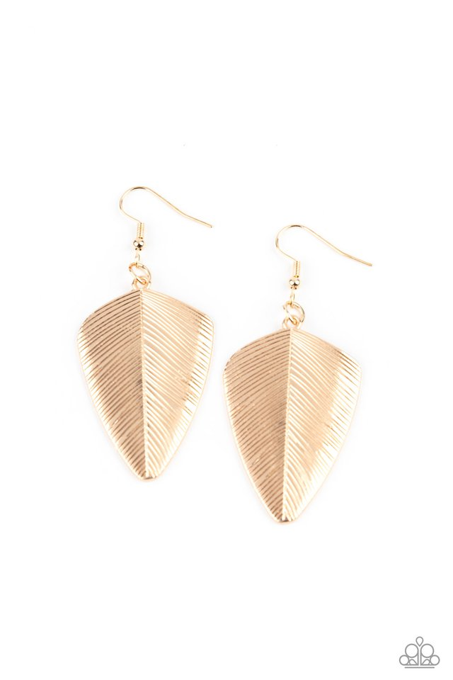 One Of The Flock - Gold - Paparazzi Earring Image