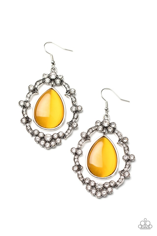 Icy Eden - Yellow - Paparazzi Earring Image