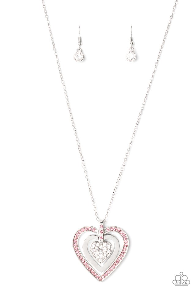 Bless Your Heart - Pink - Paparazzi Necklace Image