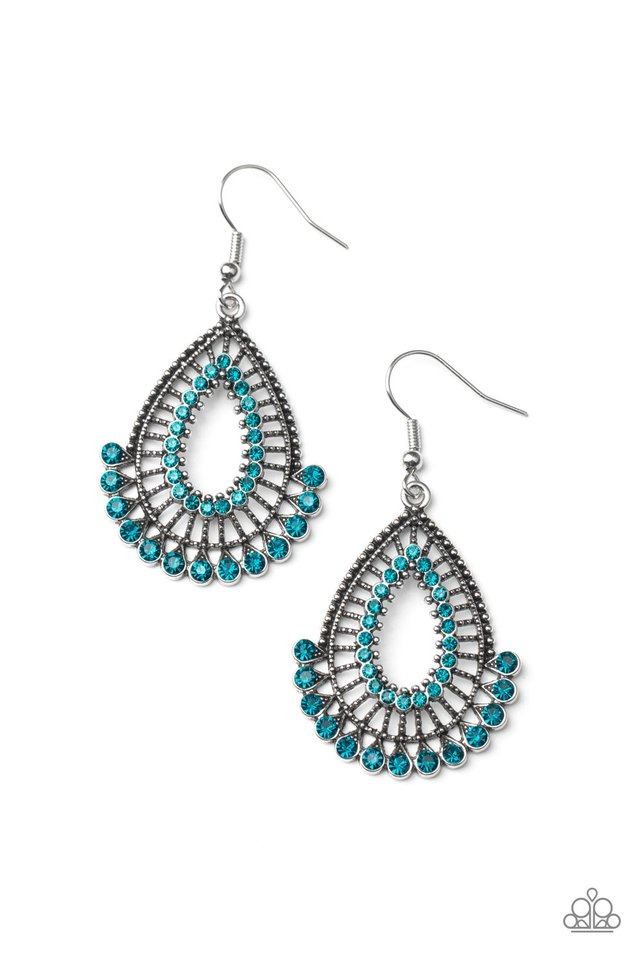 Castle Collection - Blue - Paparazzi Earring Image