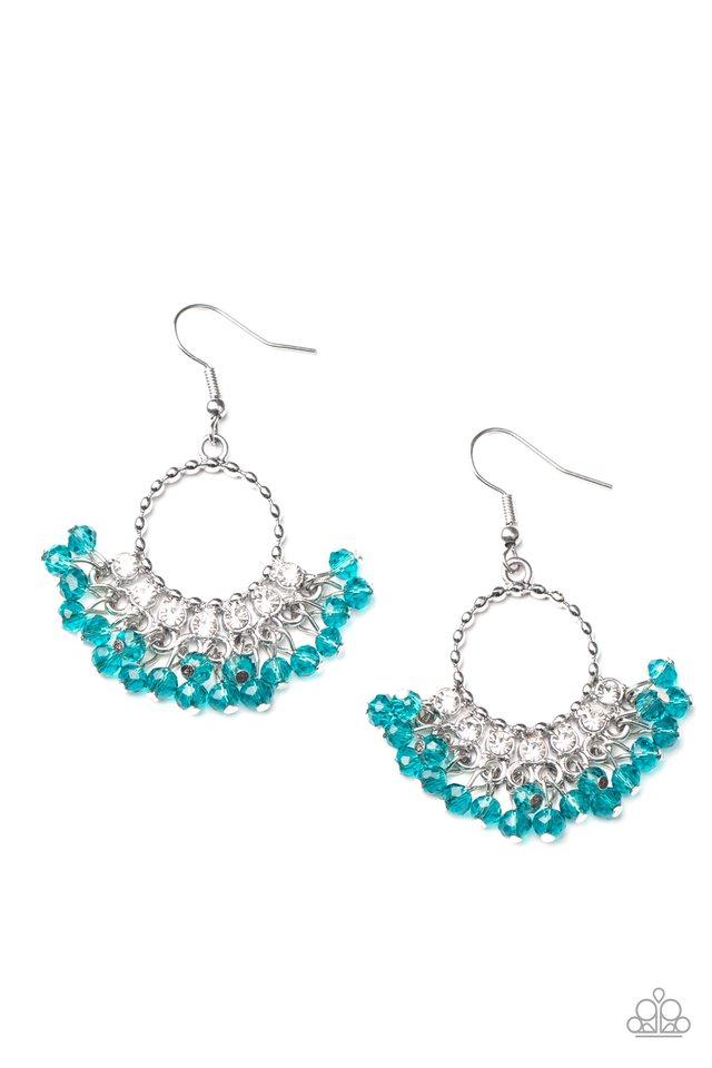 Charmingly Cabaret - Blue - Paparazzi Earring Image