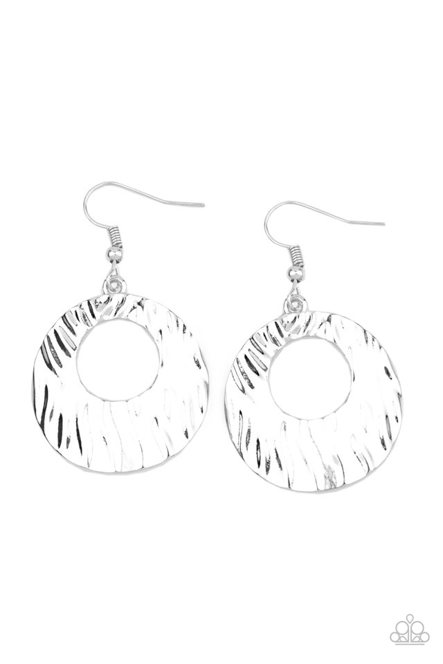 Warped Perceptions - Silver - Paparazzi Earring Image