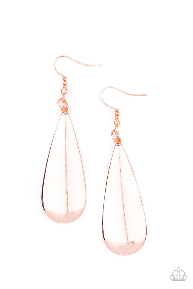 The Drop Off - Copper - Paparazzi Earring Image
