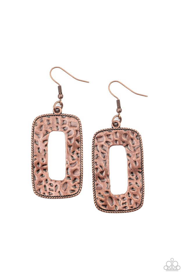 Primal Elements - Copper - Paparazzi Earring Image