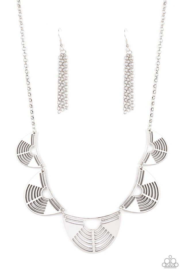 Record-Breaking Radiance - Silver - Paparazzi Necklace Image