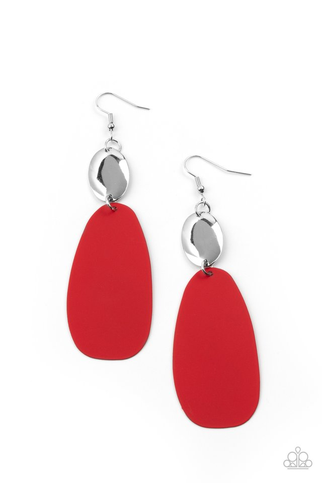 Vivaciously Vogue - Red - Paparazzi Earring Image