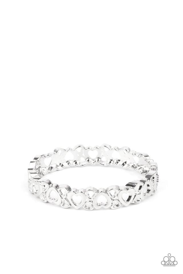 You HEART The Lady! - Silver - Paparazzi Bracelet Image