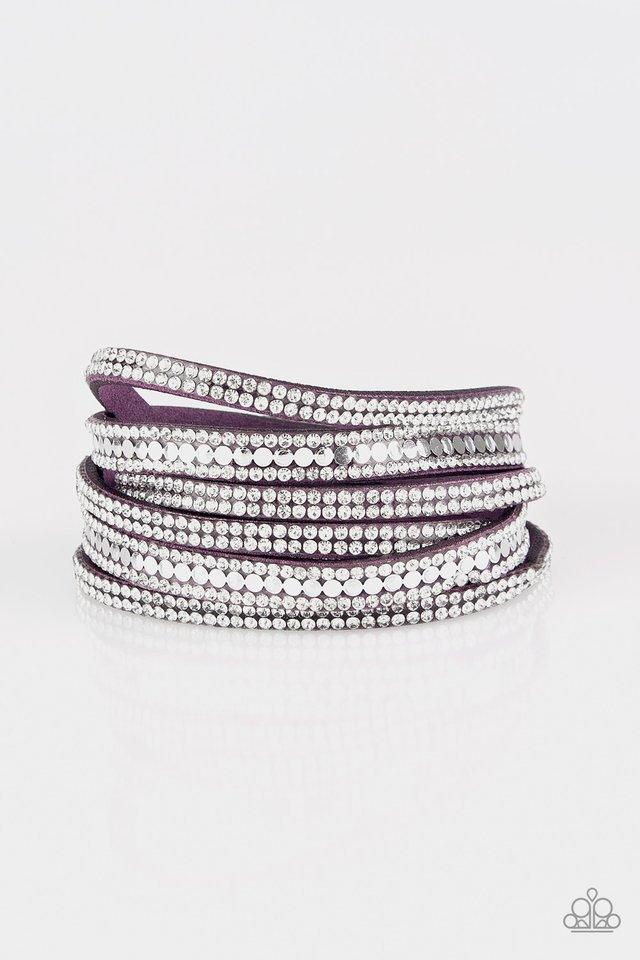 Rock Star Attitude - Purple - Paparazzi Bracelet Image