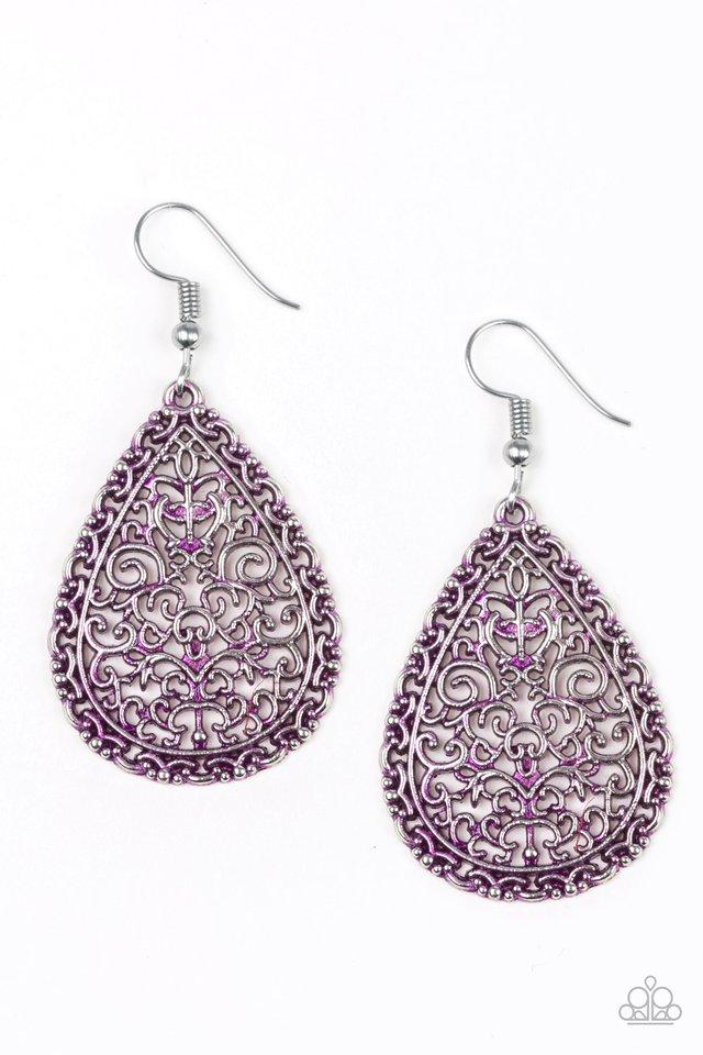 Indie Idol - Purple - Paparazzi Earring Image