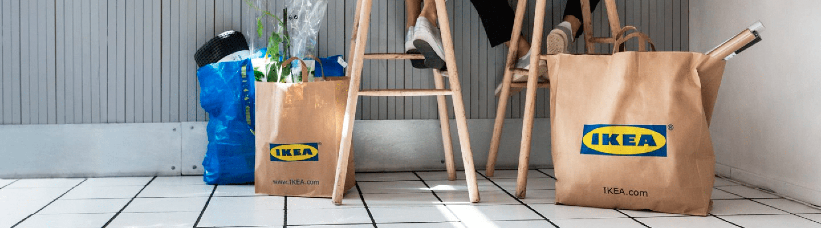 ikea bags in a photograph