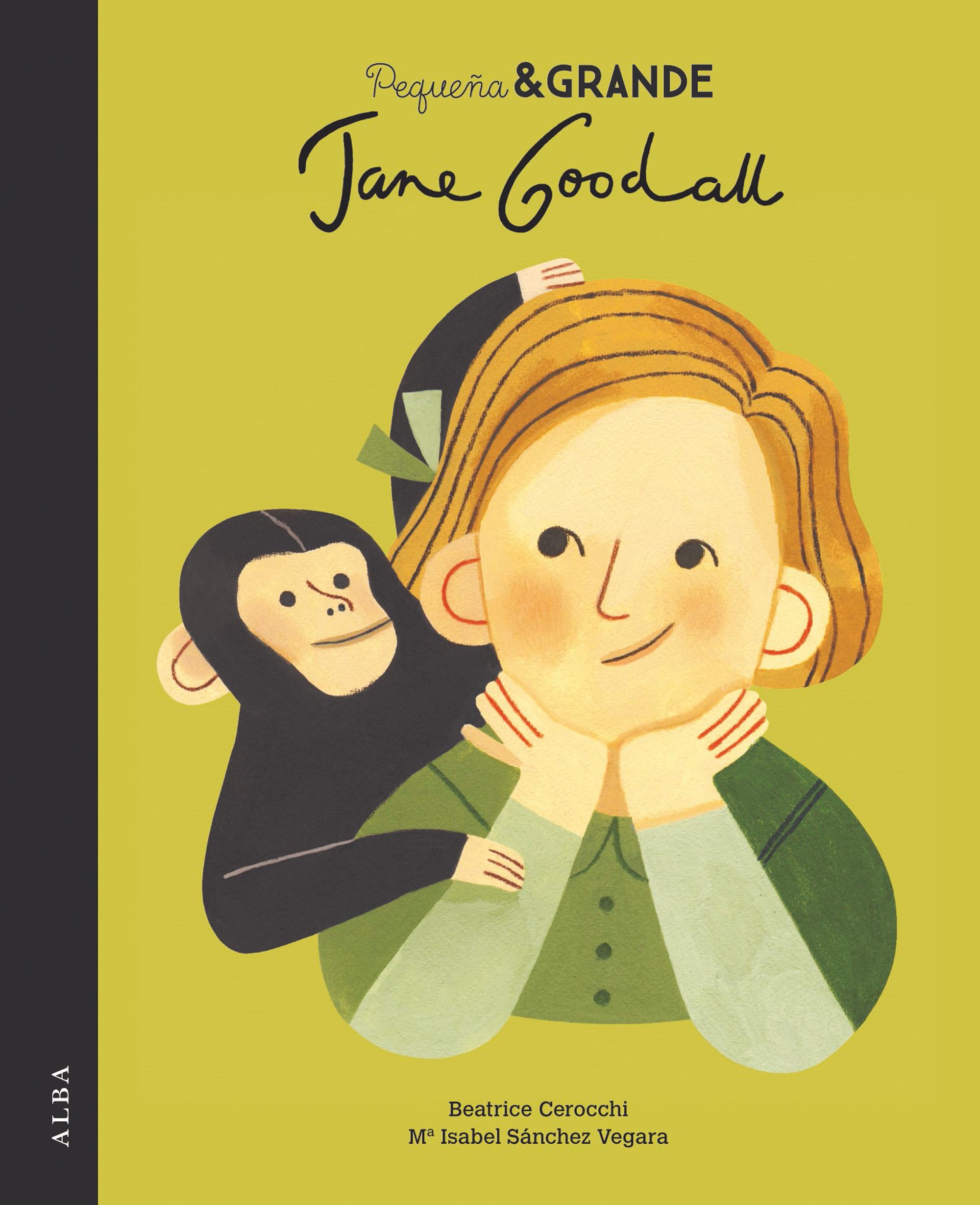 Imaxe da portada (Pequeña & Grande Jane Goodall)