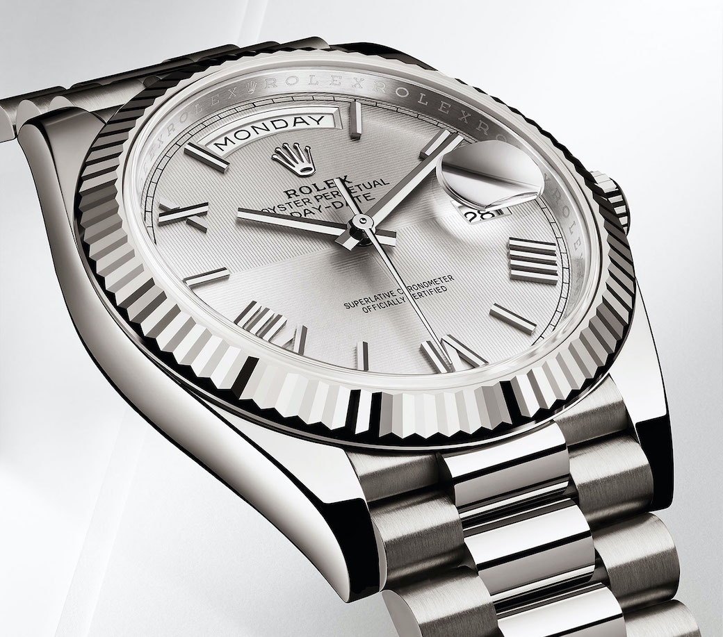 Rolex Day-Date 40 White Gold. Photo Credit: Rolex