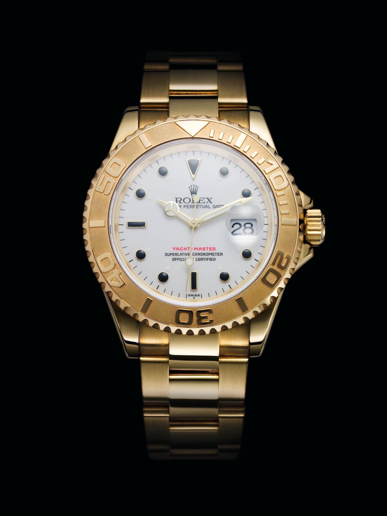 Gold Rolex Yacht Master