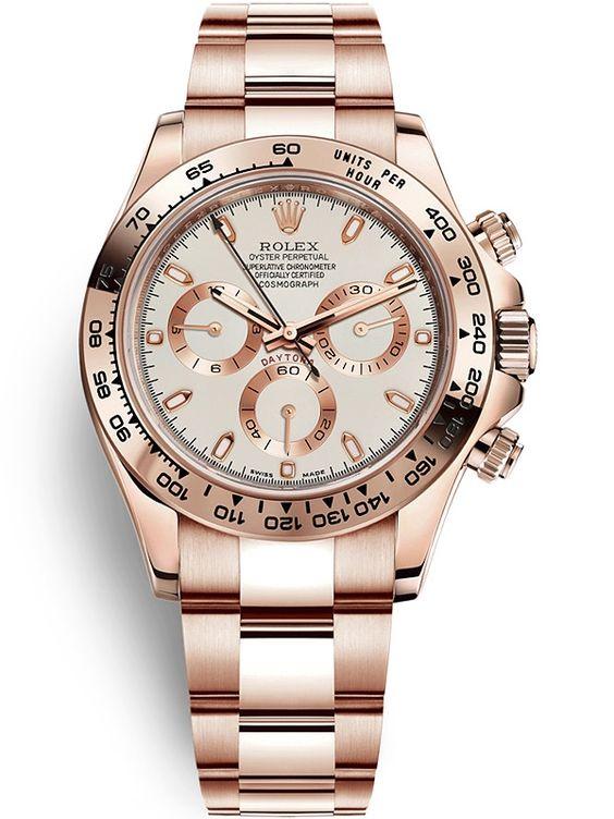 116505 Rolex Daytona 18K Everose Gold Ivory Dial 40 mm Watch