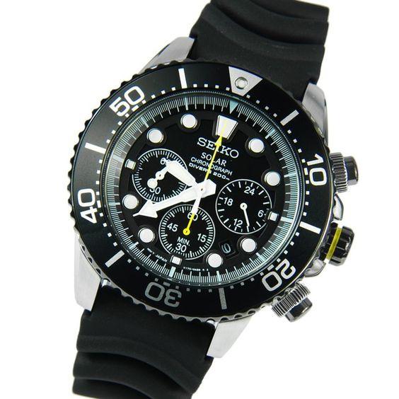 Seiko Solar Chronograph Diver Watch SSC021P1