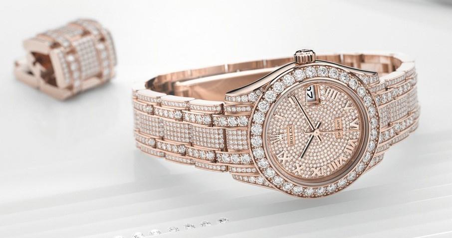 Diamond Rolex Pearlmaster