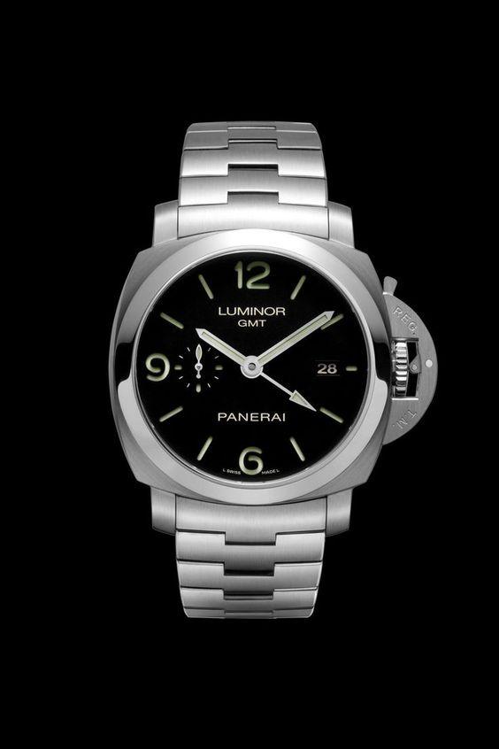 Panerai Luminor 1950 3 Days GMT Power Reserve 44mm Steel Watch PAM00329