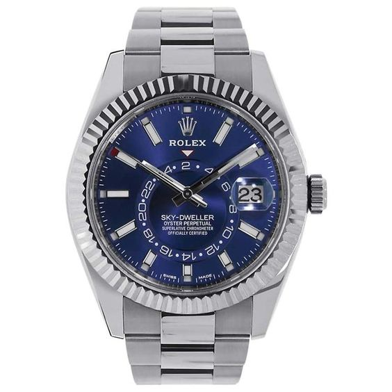Rolex Sky-Dweller Stainless Steel Blue Dial Watch 326934