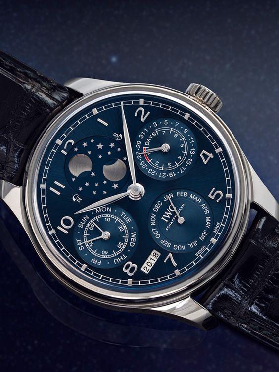 IWC Portugieser IW503401 IWC Portugieser Perpetual Calendar Automatic Blue Dial Men's Watch