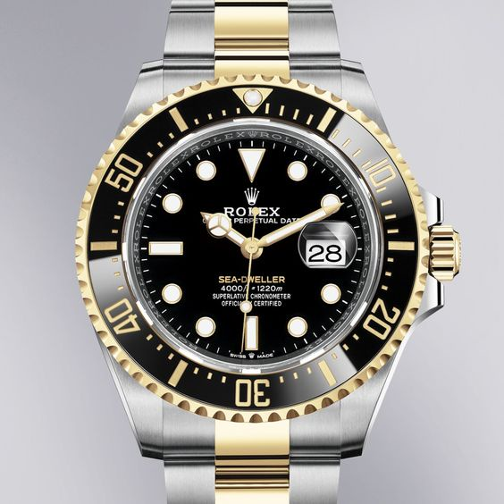 The Rolex Sea-Dweller in Oystersteel and yellow gold, 43 mm case, black dial, Oyster bracelet